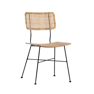 Simple Rattan & Iron Dining Chair