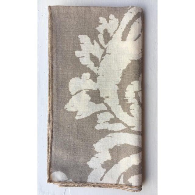 Vintage Taupe Ikat Napkins - Set of 4 - Image 6 of 7