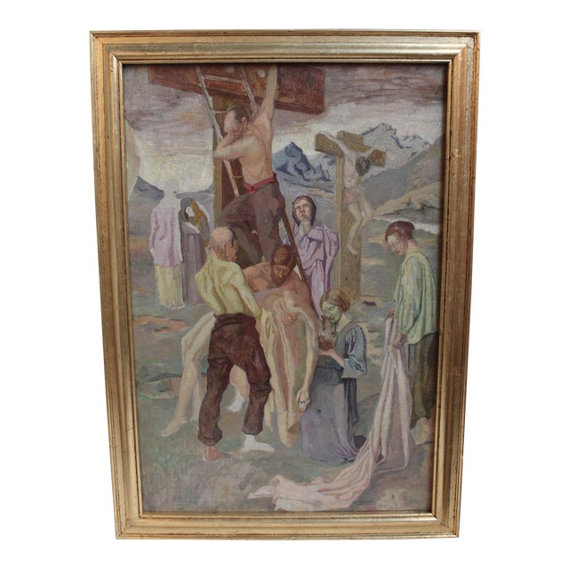 Vintage Oil Painting, Descent From the Cross - Image 1 of 5