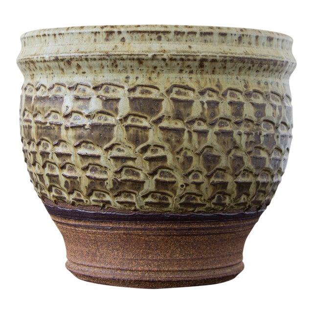 Textured Stoneware Garden Pot - Image 1 of 8
