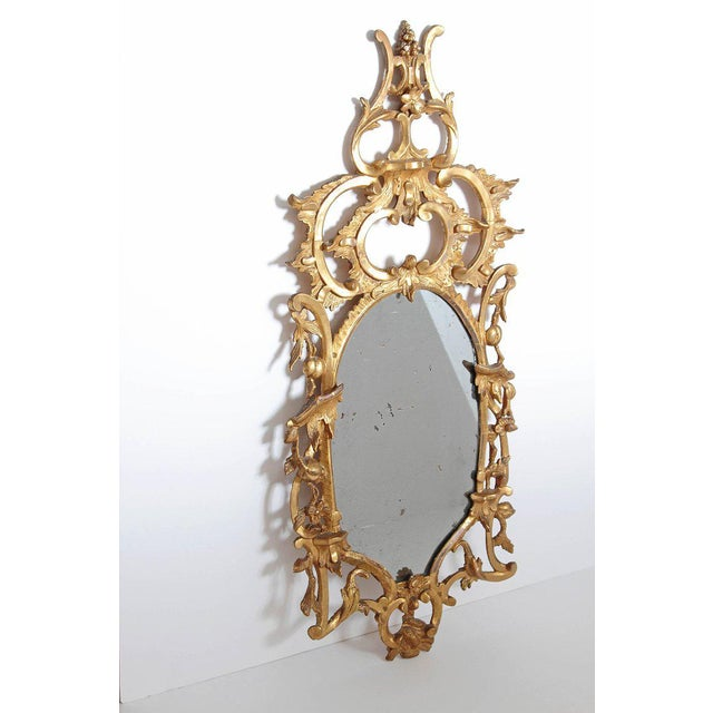 Gold George III Chippendale Style Pier Glass Mirror For Sale - Image 8 of 13