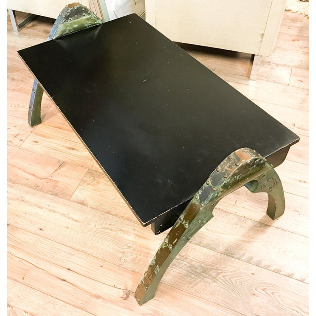 Mid Century Paul Evans Brutalist Metal Coffee Table - Image 8 of 10