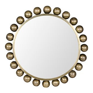 Cooper Mirror, Antique Brass For Sale