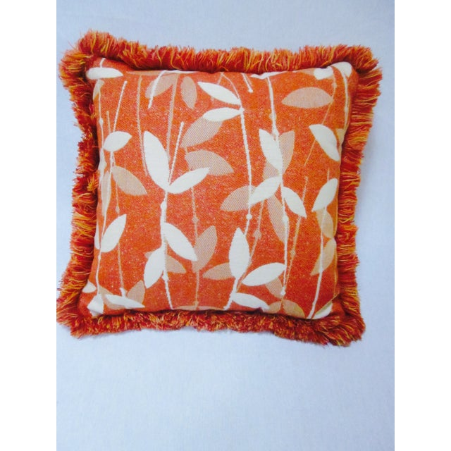 Moroccan Bohemian Orange Pillows & Placemats - Set of 9 For Sale In Phoenix - Image 6 of 11