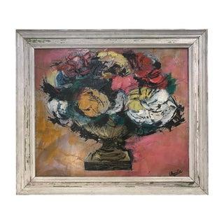 Vintage Mid-Century Modern Ursula Schultz-Bluhm Still Life Painting For Sale
