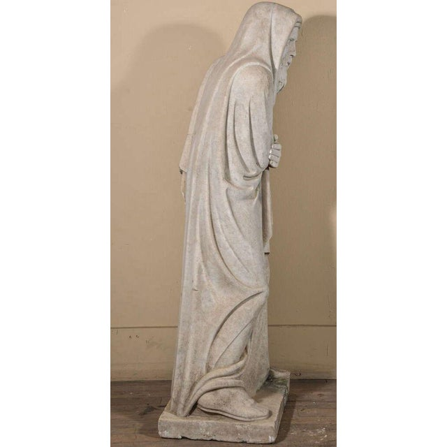 Gray 19th Century Carrara Marble Statue from Italy For Sale - Image 8 of 9
