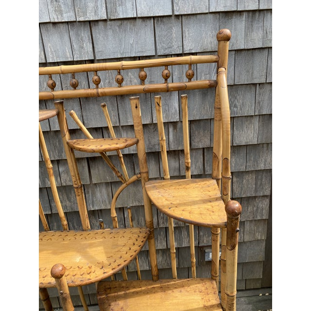 1950s Vintage Asian Bamboo Etagere For Sale - Image 5 of 9