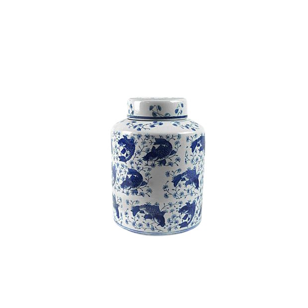 Koi Fish Porcelain Tea Vessel - Image 1 of 4