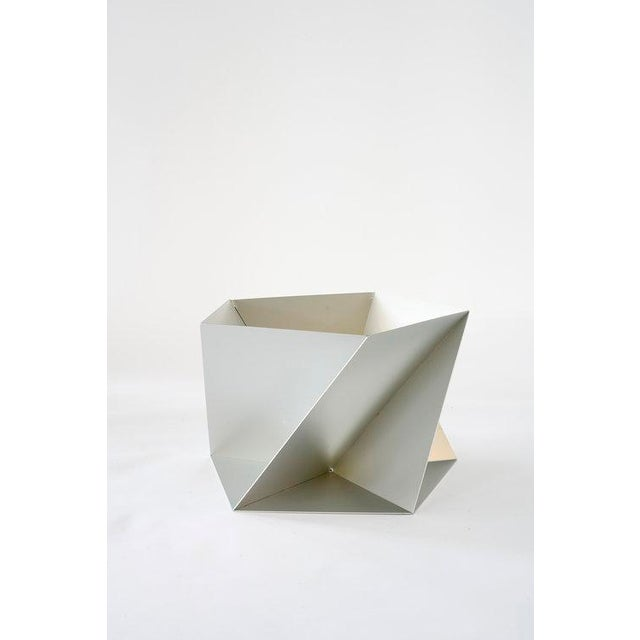 Abstract Silver Pentagami Planter For Sale - Image 3 of 3