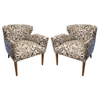 Vintage Newly Upholstered Club Chairs - a Pair For Sale
