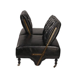 Adjustable Black Leather Sofa Preview