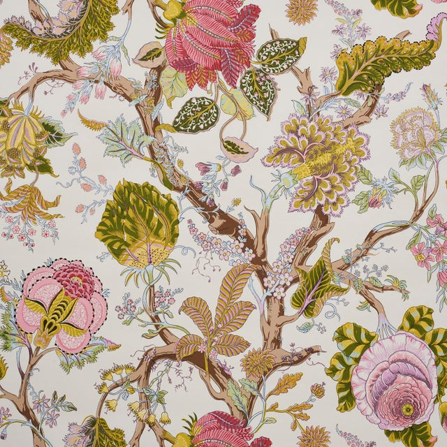 Sample- Schumacher Indian Arbre Wallpaper in Spring For Sale In New York - Image 6 of 6