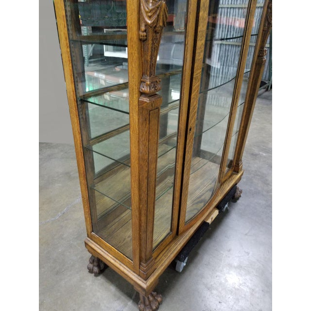 French Country R.j. Horner Bros. Style Oak Carved Curio