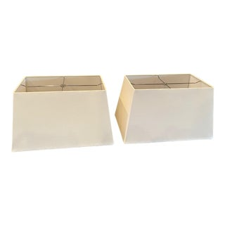 Rectangular Lamp Shades - A Pair For Sale