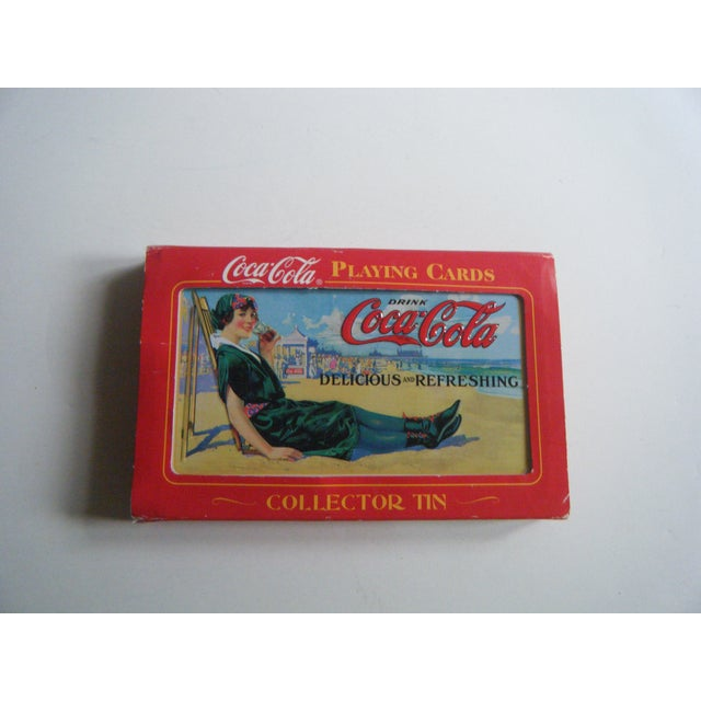 Vintage Coca-Cola Playing Cards in Tin - Image 3 of 5