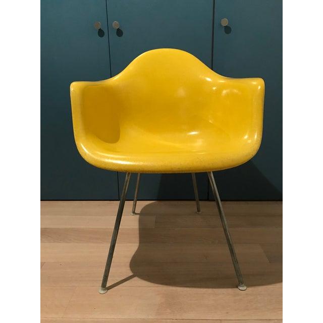 Fiberglass 1970s Mid-Century Modern Herman Miller Yellow Fiberglass Eames Shell Side Chair For Sale - Image 7 of 7