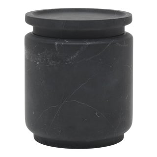 Pot in Black Marble by Ivan Colominas, Made in Italy For Sale