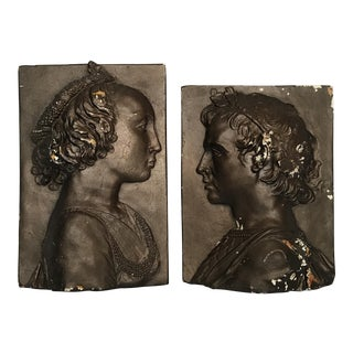 Classical Profile Plaques - A Pair For Sale