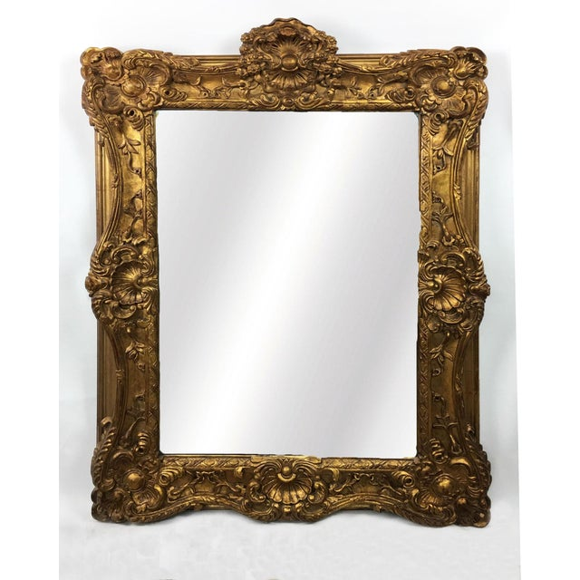 20th Century Empire Mirror Frame With English Crown Motif For Sale - Image 4 of 4