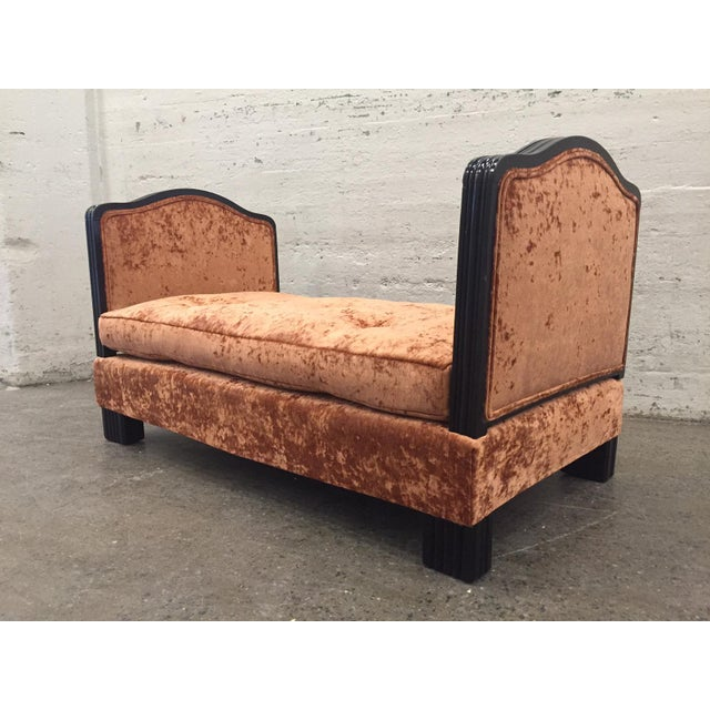Textile French Art Deco Velvet Daybed For Sale - Image 7 of 7