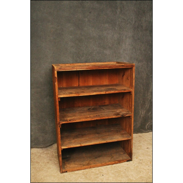 VINTAGE HANDMADE WOOD BOOKCASE. Beautiful bookcase with (4) shelves. Piece is made from used Underwood Typewriter...