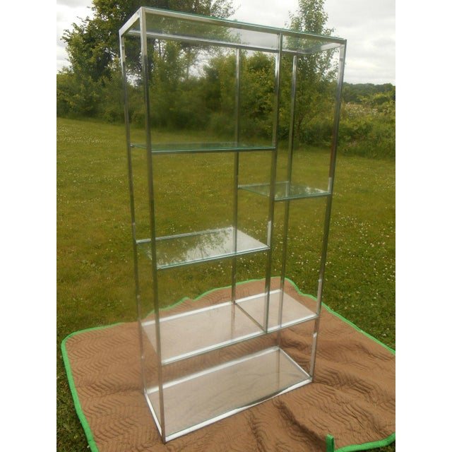Mid-Century Milo Baughman Chrome & Glass Etagere - Image 4 of 7