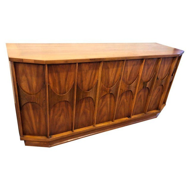 Mid-Century Modern Brutalist Credenza Kent Coffey Style For Sale - Image 13 of 13