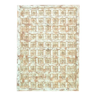 Exquisite 19th Century Floral Rajkot Ceiling Panel For Sale