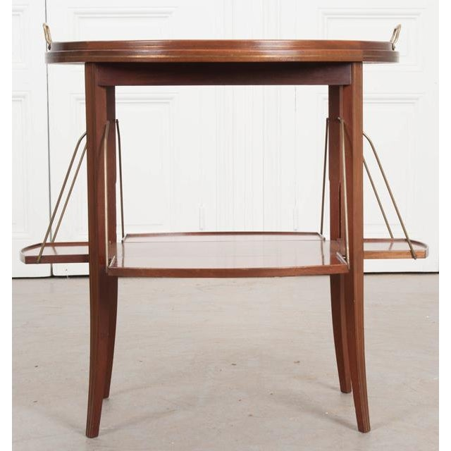 French Early 20th Century Oval Mahogany Tea Table For Sale In Baton Rouge - Image 6 of 13