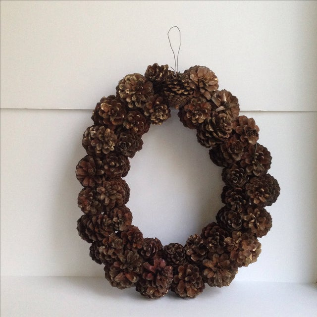 Vintage Natural Pinecone Wreath - Image 2 of 11