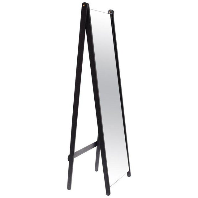 Gray Asa Pingree Libertine Full Length Mirror in Ebonized Oak For Sale - Image 8 of 9