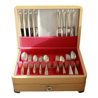 Mixed Silver-Plate Flatware - Service for 8