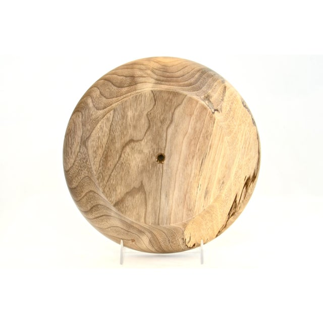 Round Hand Turned Myrtle Wood Tray For Sale In Chicago - Image 6 of 7