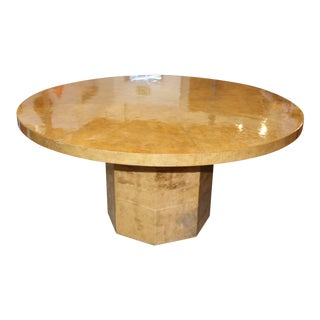 Round Segmented Parchment Table on Parchment Base For Sale