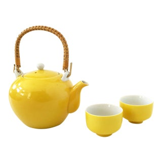 Vintage Yellow Tea Set