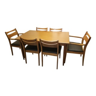 1960s Danish Modern Skovmand & Anderson Teak Dining Set - 7 Pieces For Sale