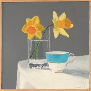 Daffodils and a Teacup by Anne Carrozza Remick For Sale