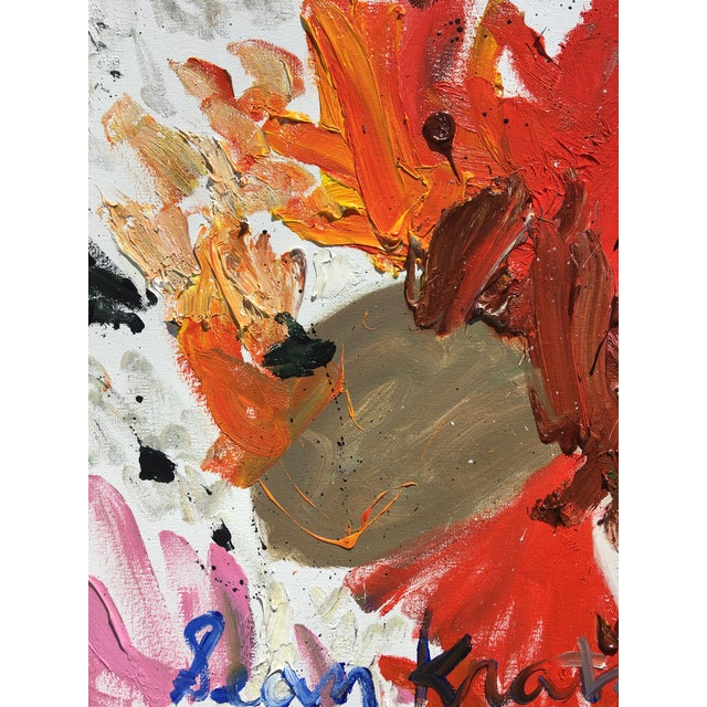 Abstract 'Rosetta' Abstract Oil Painting by Sean Kratzert For Sale - Image 3 of 3