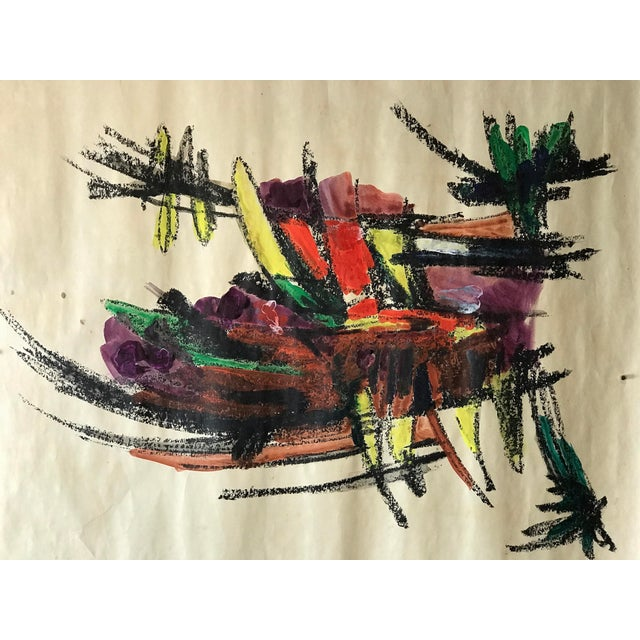 1960s Bay Area Abstract Expressionism Bowl of Bananas For Sale