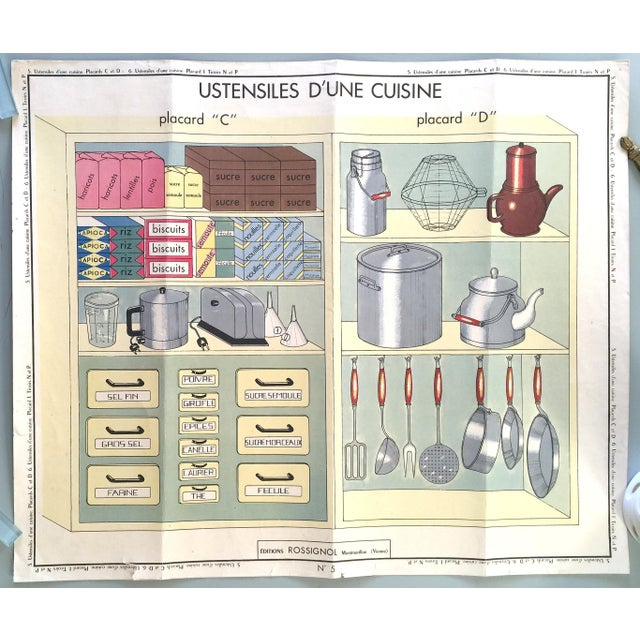 French Vintage Kitchen Cupboard School Poster - Image 2 of 8