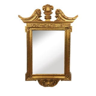 20th Century English Traditional Gilt Wood Winged Mirror For Sale