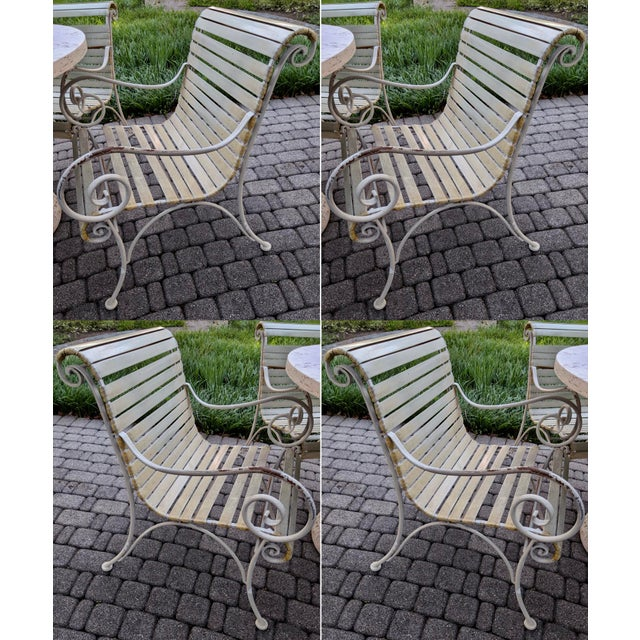 1970s Salterini Style Regency Iron Patio Chairs, Set of 4 For Sale - Image 5 of 5