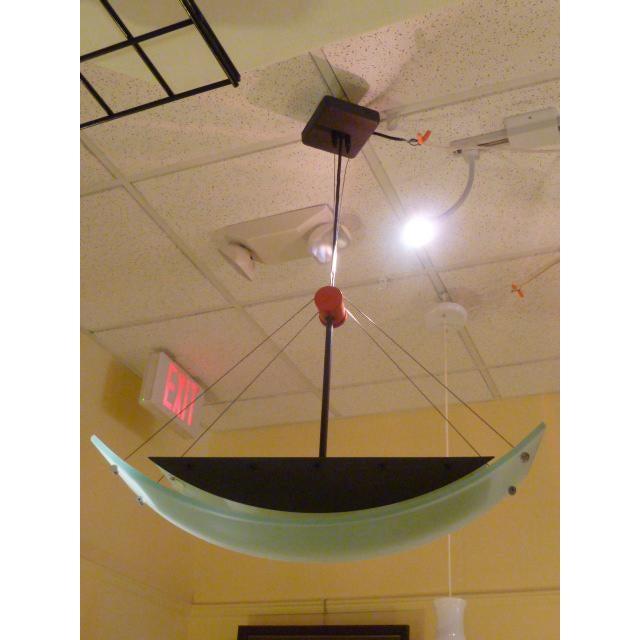 Memphis Fine Robert Sonneman Memphis Inspired Suspension Chandelier For Sale - Image 3 of 11