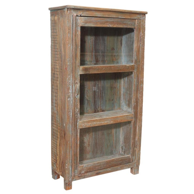 British Colonial Glass Cabinet For Sale - Image 4 of 5