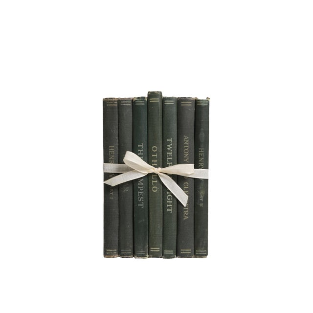 Vintage Decorative Book Gift Set: Shakespeare Greens For Sale