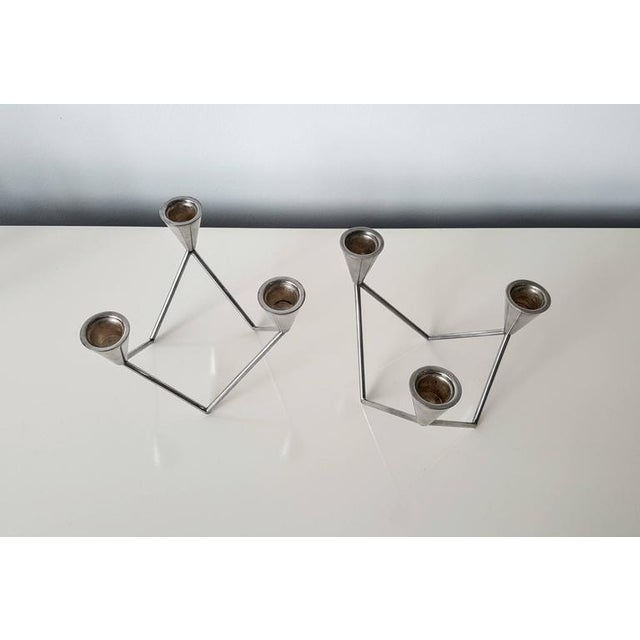 Georg Jensen Sculptural Candelabras - A Pair - Image 2 of 6