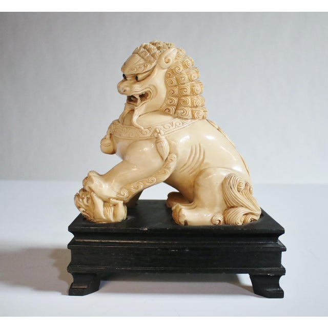 Mid-Century Chinese Guardian Foo Lion Sculpture - Image 3 of 8
