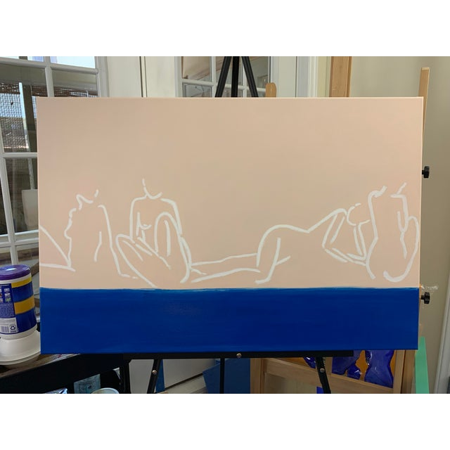 """""""La Mer""""Contemporary Painting by Lindsey Weicht For Sale In Charlotte - Image 6 of 8"""