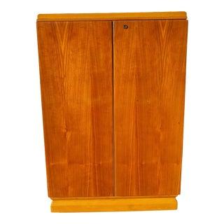 1960s Mid Century Modern Wooden Cellaret For Sale