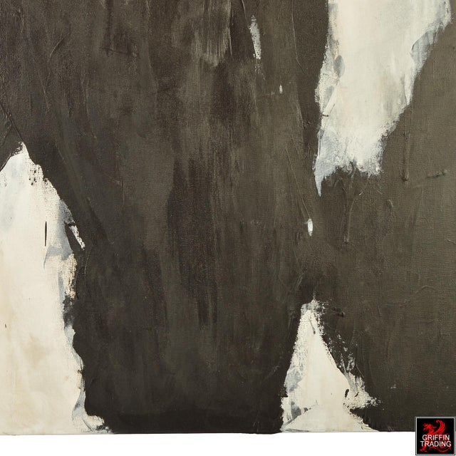 White UNTITLED 2016-2 Black and White Abstract Signed Original Painting For Sale - Image 8 of 10